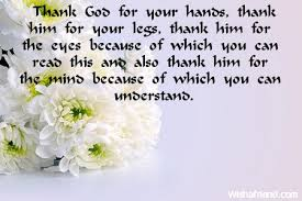 words of thanks