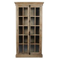 Rojo Tall Cabinet Tall Glass Door Cabinet Cool Antique Display Kitchen Ideas Cepagolf
