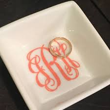 monogrammed ring best monogrammed ring dish products on wanelo