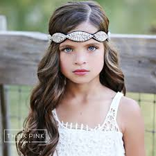 bridal headband look at me rhinestone flower girl bridal headband think pink bows