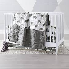 All White Crib Bedding Excursion Elephant Crib Bedding Crate And Barrel