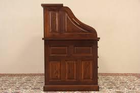 Craigslist Bakers Rack Sold Gunn Oak 1910 Antique Roll Top Desk Raised Panels Harp