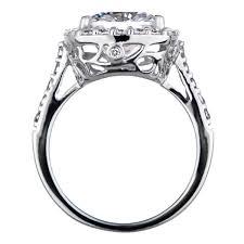 engagement rings that look real wedding rings cz wedding sets that look real princess cut white