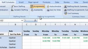 employee schedule template for excel and employee schedule maker