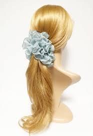banana hair handmade ribbon bow fabric flower banana hair clip