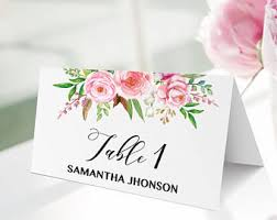 floral place cards etsy