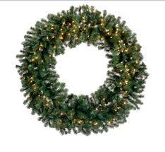 60 pre lit deluxe pine artificial wreath clear