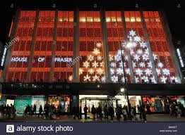 Christmas Lights House by House Of Fraser Department Store Oxford Street With Christmas