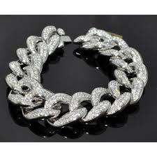 mens black link bracelet images Bracelet mens custom made cuban link curb link 10k solid white jpg