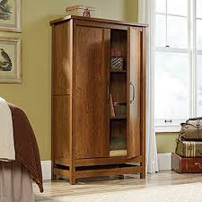 Oak Storage Cabinet Sauder Cannery Bridge Milled Cherry Storage Cabinet 419151 The