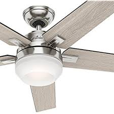 ceiling fan led light remote control hunter apex 54 contemporary design in brushed nickel ceiling fan