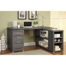 coaster yvette l shaped computer desk in dark gray 800518ii