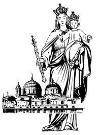 virgen maria auxiliadora para colorear poster