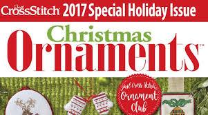 2017 2018 just cross stitch ornament club cross my ltd