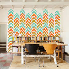 Wall Decals Patterns Color The by Chevron Arrow Pattern Wall Decal 3 Color Shop Decals At Dana Decals