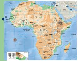 angola physical map sub saharan africa countries for the political map quiz