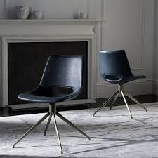 Leather Swivel Dining Chairs Safavieh Danube Mid Century Modern Leather Swivel Blue Brass