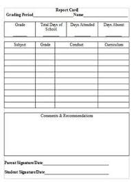 report card template blank report card template practical homeschool foundinmi