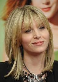 above shoulder length hairstyles with bangs 80 sensational medium length haircuts for thick hair in 2018