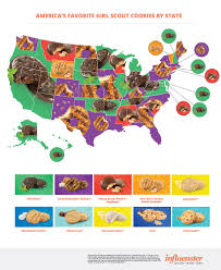 Cal State La Map by The Most Popular Scout Cookies In Every State