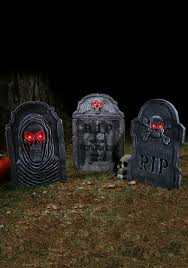 tombstone decorations rip graveyard tombstone gravestone haunted decorations