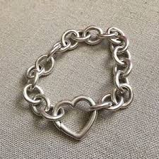 bracelet tiffany ebay images Vintage sterling silver tiffany bracelet heart clasp ebay jpg