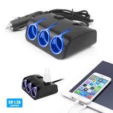 Multi Socket Car Charger With Usb Port Car Charger Splitter Ebay