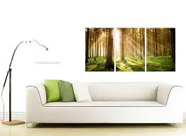 Dining Room Prints Cheap Trees Canvas Prints 3 Panel For Your Dining Room