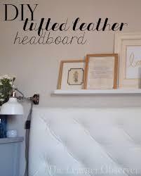 diy leather tufted headboard hometalk