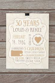 anniversary gifts personalized 30 year anniversary gifts custom gift for parents anniversary