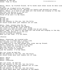 kingston trio song seasons in the sun lyrics