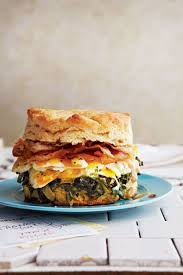 biscuits with pancetta collard greens marbleized eggs and