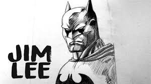 jim lee drawing batman cover youtube
