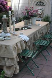 Dining Room Tablecloths by Best 25 Burlap Tablecloth Ideas On Pinterest Burlap Wedding