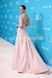 emmy rossum gorgeous blush prom dress 2015 costume designers