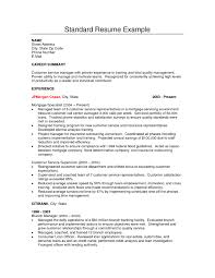 Customer Service Manager Resume Sample Standard Resume Examples Resume Example And Free Resume Maker