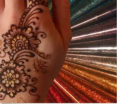 30g flashing temporary tattoos paste gold silver plant henna