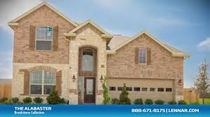 Lennar Home Floor Plans by The Alabaster New Home Tour Lennar Houston Youtube