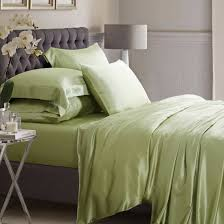 sage green silk bed linen high quality mulberry silk