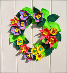 egg box easter wreath mrs fox u0027s life home crafts and parties