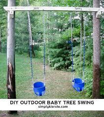 baby swing swing set diy outdoor tree baby swings simply kierste design co