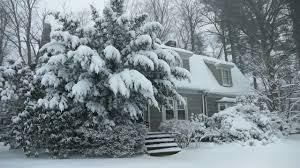 winter cabin winter cabin in a snowstorm falling snow heavy winds blowing