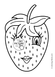 with eyes fruits coloring pages simple for kids printable free