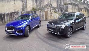 jaguar f pace 30d vs bmw x3 xdrive30d diesel suv comparison pov
