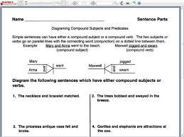 free printable sentence diagramming worksheets worksheets