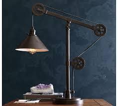 Pulley Floor Lamp Warren Pulley Task Table Lamp Pottery Barn