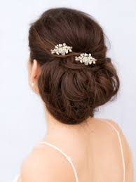 pearl hair accessories small gold wedding hair comb millicent bridal hair