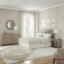 somerset ash grey headboard dresser and nightstand bedroom set
