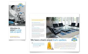 janitorial u0026 office cleaning tri fold brochure template word