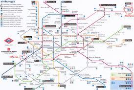 Madrid Metro Map Llegarhostal